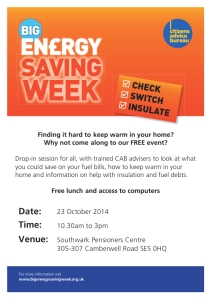 BESW drop-in flyer
