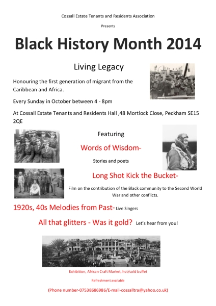 Black history Month 2014 poster