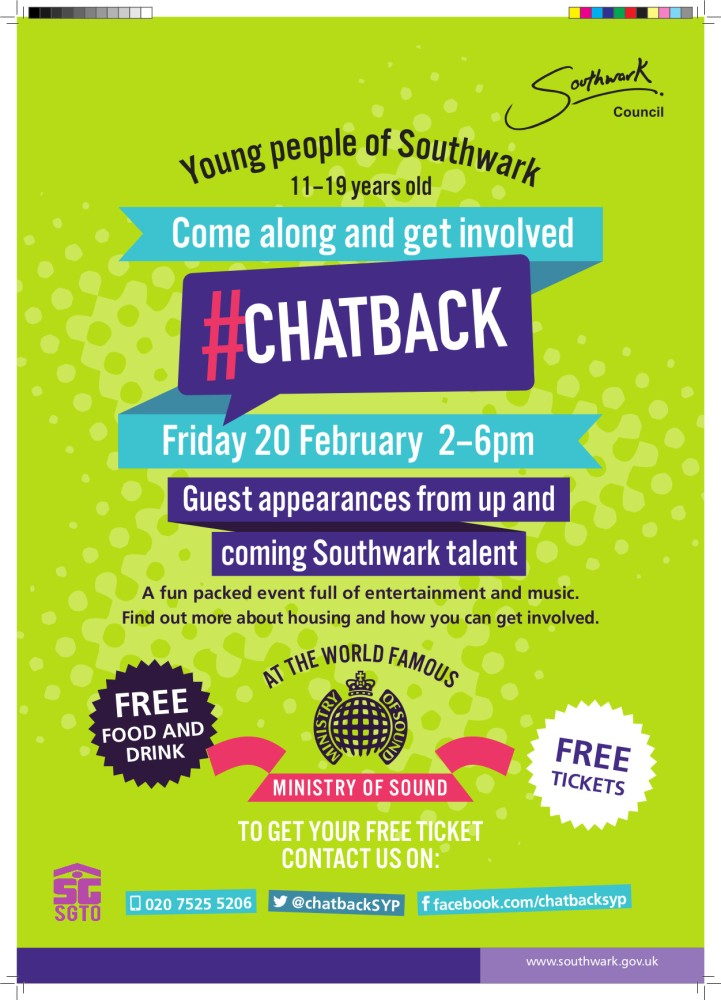 #CHATBACK at The Ministry of Sound.