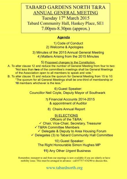 AGM final Agenda 17th March 2015