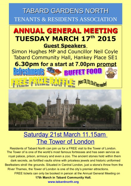 Tabard North AGM 1 March 2014