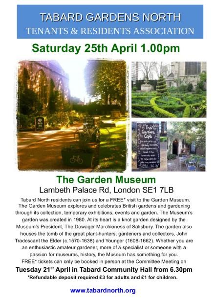 Garden Museum 25th April
