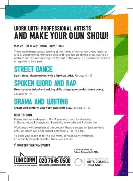UNICORN_Urban Arts Week postcard ART2
