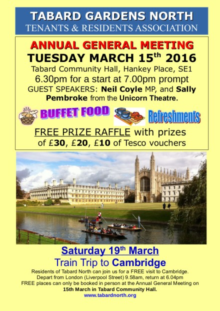 AGM poster 15th March 2016