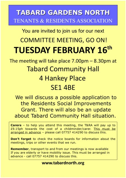 Committee Meeting colour leaflet 16th February2016