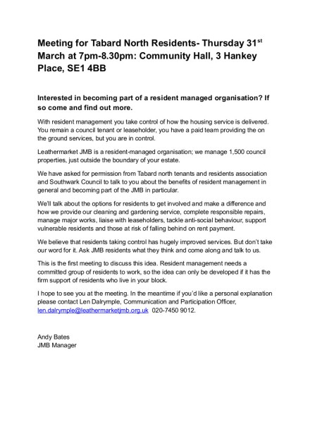 Meeting for Tabard North Residents (1)