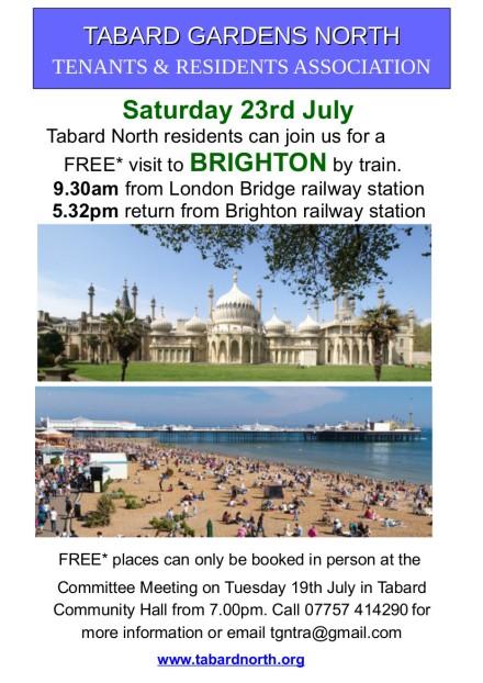 Brighton  23rd July 2016