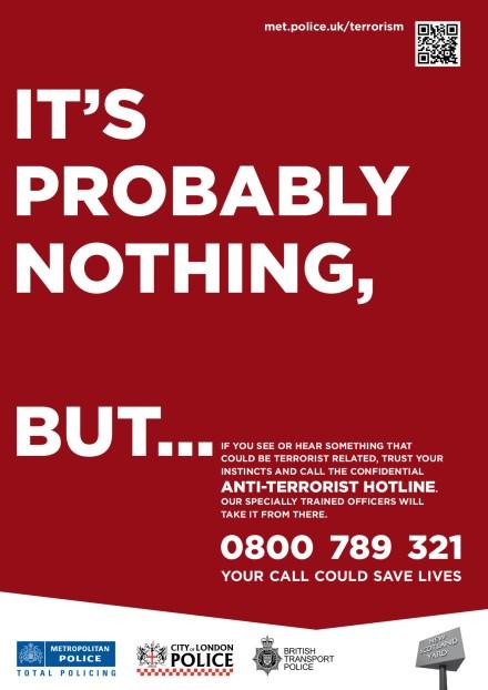 Anti-Terrorist Hotline Poster
