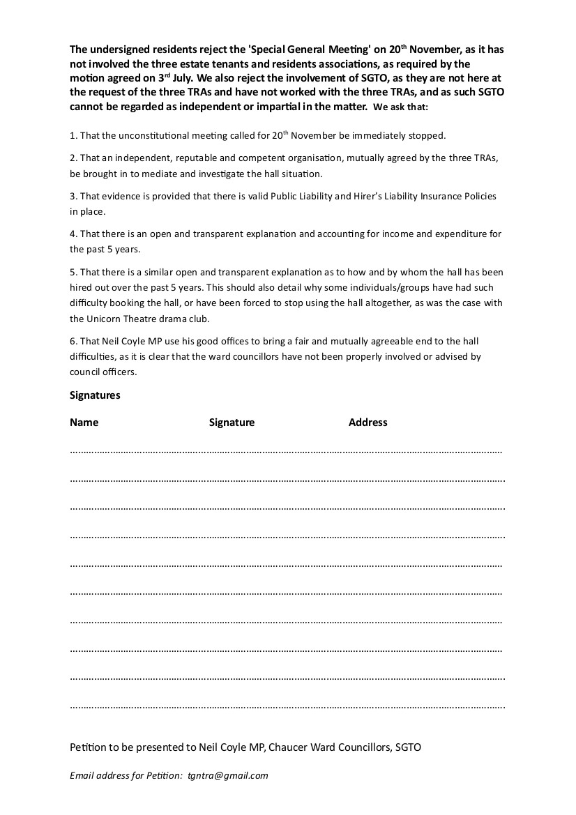 Final Tabard North Petition 2 November 2017