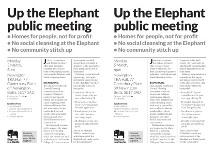up the elephant public meeting
