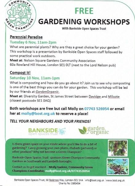 BOST Gardening Workshops 1